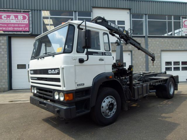DAF 1900 Turbo Intercooling +HIAB 071 Crane